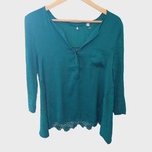 Knitted and Knotted Anthro Verso Crochet Top